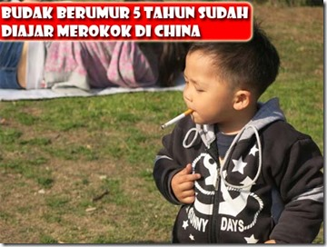 budak china 5 tahun diajar hisap rokok 1