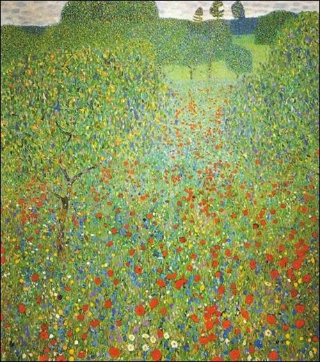 jardim de papoulas Gustav Klimt