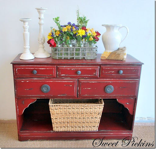 Gallery For Red Distressed Furniture