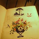 Dessins, papiers découpé et écriture d'Andersen