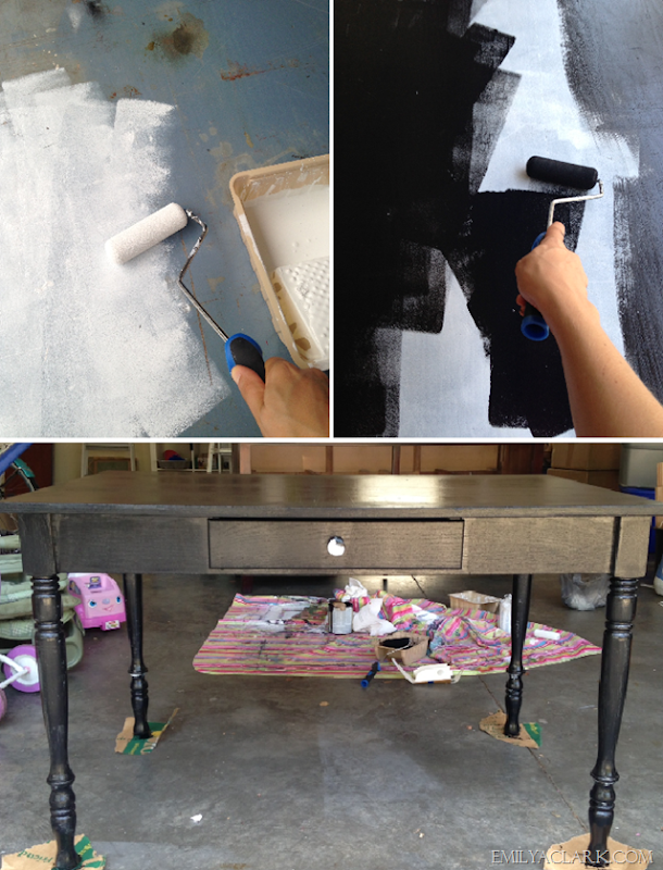 priming and painting desk