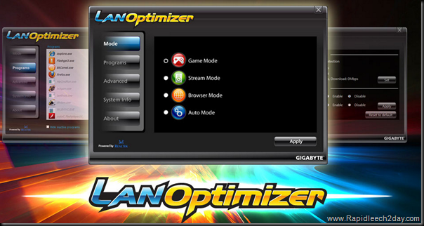 GIGABYTE LAN Optimizer