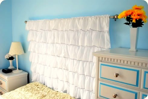 ruffled headboard tutorial