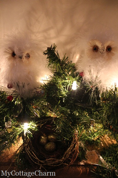 Christmas owl decor