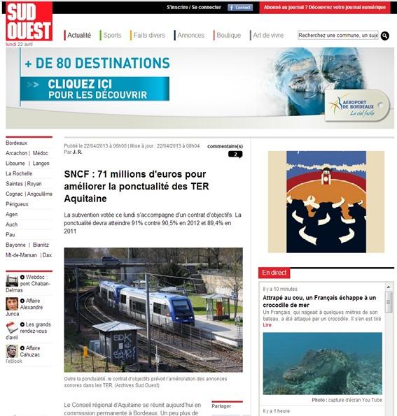 Programa de modernizacion del TER Aquitània