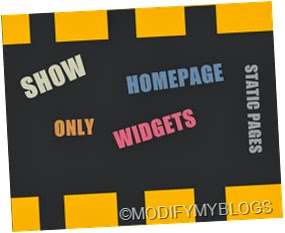 show,hide,only,static pages,homepage and archive pages to widgets
