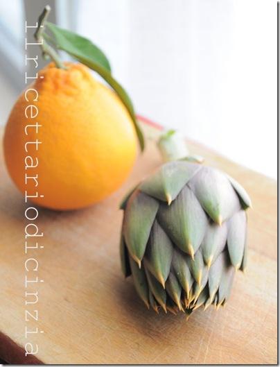 Risotto ai carciofi arancia e gamberi