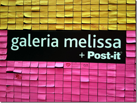 galeria melissa animacao video post-it sao paulo