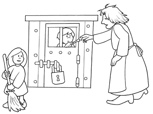 Coloring pages » HANSEL AND GRETEL COLORING
