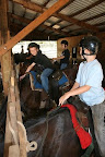 We mounted up in the barn, then headed out for a short ride