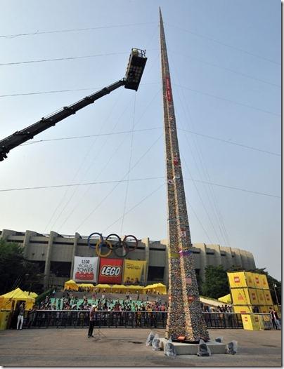 Maior torre feita de peças de Lego