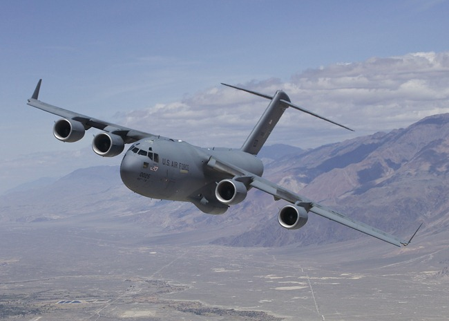 C-17 Globemaster III heavy-lift cargo aircraft. India is to buy upto 16 of these from the Boeing Corporation for the Indian Air Force