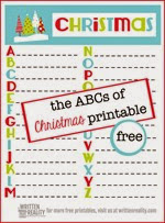 Written Reality - ABC Printable