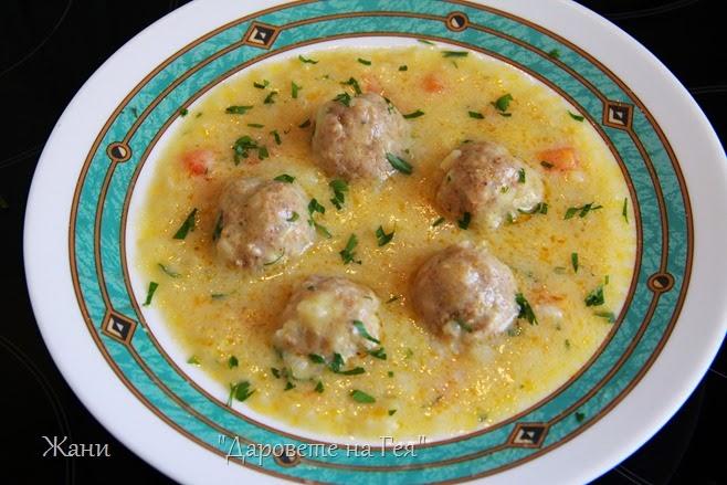 супа топчета от пилешка кайма_5719