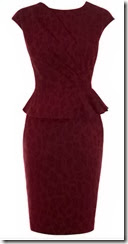 Karen Millen Leopard Wool Jacquard Dress