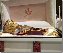 Тело коптского патриарха папы Шенуды Третьего