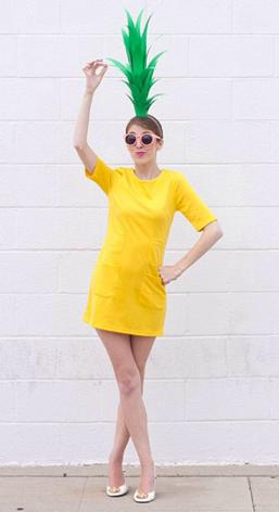 La Reines Blog Last Minute Ananas Kostum Zum Selbermachen
