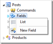 Creating a new field in the Posts controller.