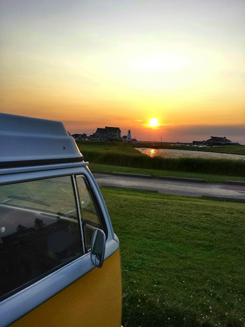 T2 Westfalia sunrise in Shediac, Canada