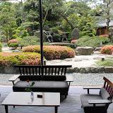 日本庭園。福井県あわら市にある八木旅館にて。