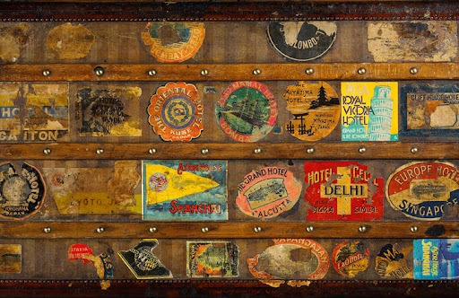 This mail trunk made for Charles de Beistegui looks like it has been to all four corners of the world.