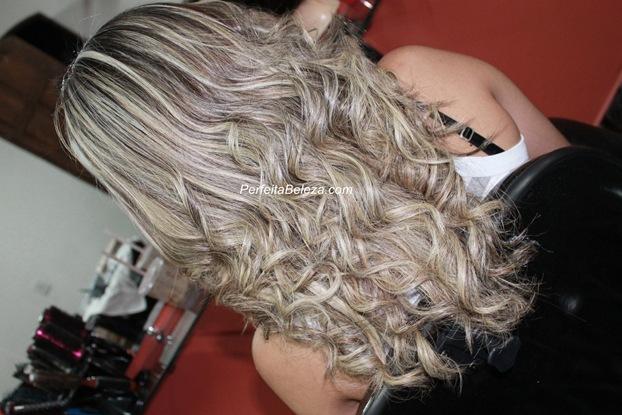 mechas no cabelo