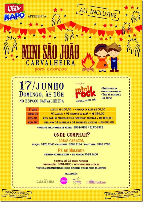 POSTER - NEWSLETTER - MINI SÃO JOÃO CARVALHEIRA