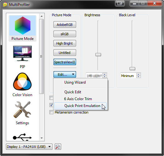 NEC MultiProfiler Quick Print Emulation Feature