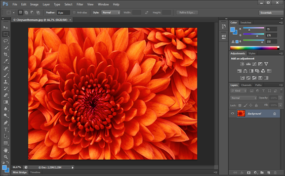 Interface do Photoshop CS6