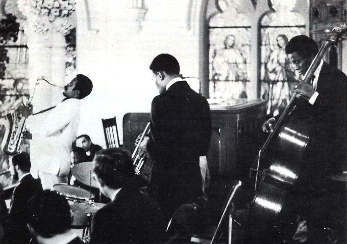 Albert Ayler performing at John Coltrane's funeral in 1967 Photo-  Ray Ross.jpg