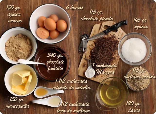 tarta de chocolate ingredientes