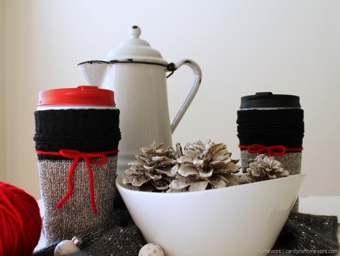 Dollar Store Coffee Cup Sock Cozy - carolynshomework (14)
