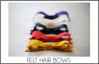 felt hair bow tab