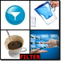 FILTER- 4 Pics 1 Word Answers 3 Letters