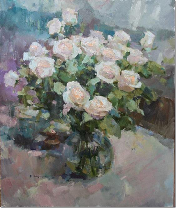 Still life with roses-Vadim-Suvorov-ENKAUSTIKOS