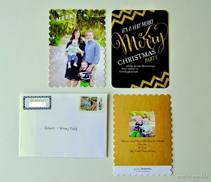 Shutterfly Perfectly Personal Holiday Cards and stationery set