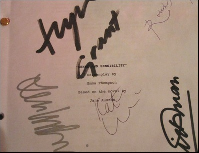 sense and sensibility autographed copy 2