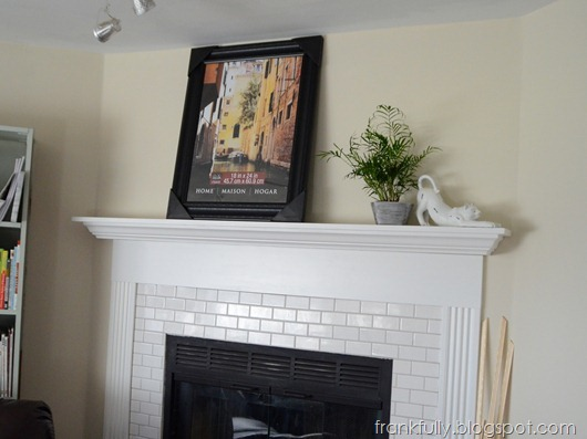 black 18x24 frame from Michael's on the new mantel!