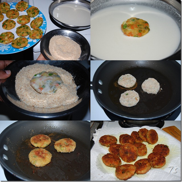Vegetable cutlet process2