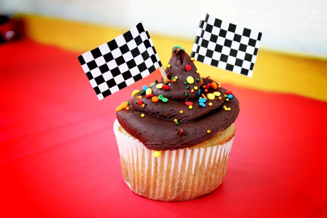 car theme birthday party cupcakes diy
