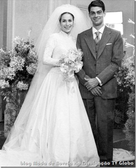moda da novela a madona de cedro- vestido de noiva da marta
