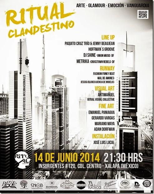 CARTEL PRENSA RITUAL CLANDESTINO 2014