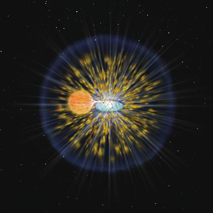 ilustração da explosão de uma nova clássica