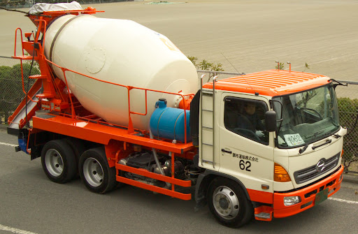 cement and concrete mixer shot