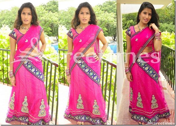 Shruti_Hussain_Pink_Half_Saree
