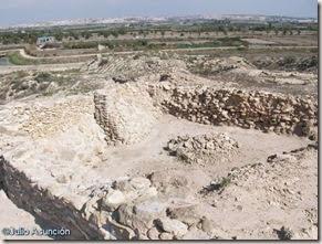 Cabezo Pequeño del Estaño - interior de la fortificación sur