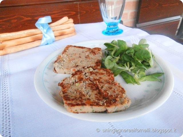 hamburger pesce salmone verdure senza uova tonno