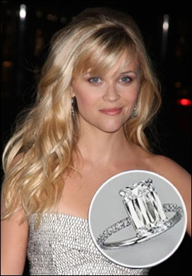 Reese Witherspoon Ashoka Cut Diamond Engagement Ring