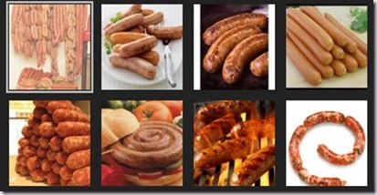 sausages and processed meats