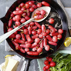 Brown Butter Basted Radishes
